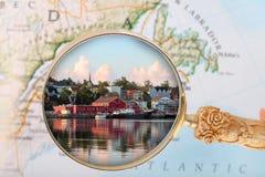 Looking in on Lunenburg, Nova Scotia Stock Photo