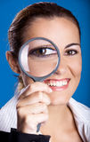 Looking through a magnifying Glass Royalty Free Stock Photography