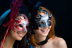 Looking through masks Royalty Free Stock Photography