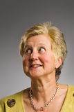 looking mature sideways woman Στοκ Φωτογραφίες