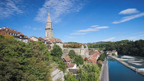 Looking at the Minster Terrace or Munsterplattform (Bern, Switzerland) Royalty Free Stock Images