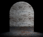 Looking from Mouse Wall Hole. 3d Rendering Royalty Free Stock Images