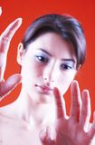 Looking at My Hands Royalty Free Stock Photo