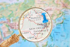 Looking in on New Dehli, India Royalty Free Stock Image