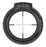 Looking through new rifle scope with Mil-Dot reticle, three clipping paths Royalty Free Stock Images