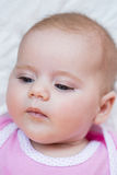 Looking newborn baby Stock Images