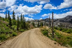 Idaho back country road stock images