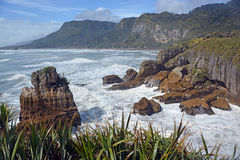 Looking North From Punakaiki Rocks towards Karamea, New Zealand Stock Photo