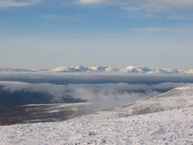 Looking north to the Cairngorms stock photo