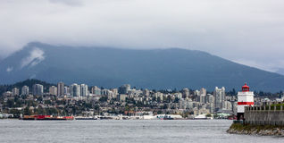 Looking at North Vancouver and Mountains. Royalty Free Stock Photography