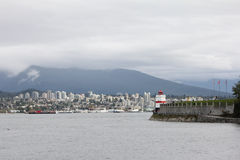Looking at North Vancouver and Mountains. Stock Photography