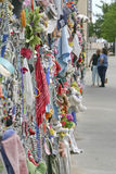 Looking at the Oklahoma Bombing Memorial Memory Fence Stock Image