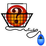 Looking online for information. Shopping on the internet for information - illustration Stock Photography