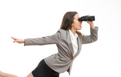 Looking for opportunities. Royalty Free Stock Photo