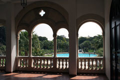 Looking out. From a palace Stock Photos