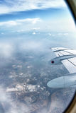 Looking Out Airplane Window Stock Images