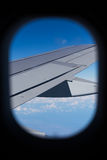 Looking Out Airplane Window Royalty Free Stock Photography