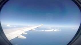 Looking Out of an Airplane Window stock footage
