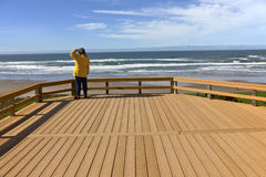 Looking out on the beach Oregon coast. Royalty Free Stock Photo