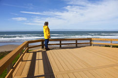 Looking out on the beach Oregon coast. Royalty Free Stock Image