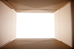 Looking out from the box Royalty Free Stock Photos