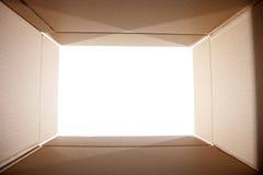Looking out from the box. Looking out from the cardoard box Royalty Free Stock Photos
