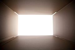 Looking out from the box. Looking out from the cardoard box Stock Photo