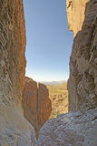 Looking Out Into the Desert from a Remote Canyon Royalty Free Stock Images