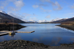Looking out from Glencoe Village Royalty Free Stock Images