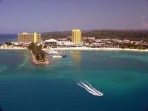 Looking Out on Ocho Rios, Jamacia. Resorts in Ocho Rios, Jamacia Royalty Free Stock Photography