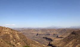 Looking out over the Ethiopian landscape Stock Photos
