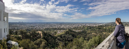 Looking out over LA from Overlook Royalty Free Stock Image
