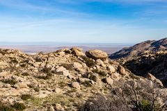 Anza-Borrego Desert View. Looking out over a rocky landscape, at Anza-Borrego Desert State Park in California stock image
