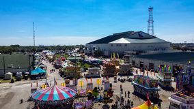 Town Fair on a Summer Day stock photography