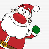 Looking out Santa Claus Stock Photo
