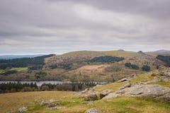 Sheeps tor above Burrator reservoir royalty free stock image