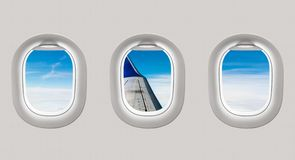 Free Looking Out The Windows Of A Plane To The Aircraft Wing And Clou Royalty Free Stock Photography - 78860377