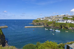 Looking out to sea in Port Issac on a hot sunny summers afternoon Stock Photography