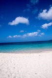 Looking out towards caribbean. From Grenada Grand Anse beach Stock Images