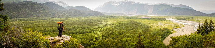 Looking out into the vast Alaskan wilderness Royalty Free Stock Photo