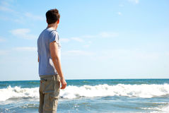 Looking Out at the Water Stock Photography