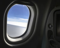 Looking Out from the window of the aircraft. Stock Photography