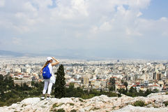 Looking over Athens Royalty Free Stock Photo