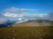 Looking over clouds from Helvellyn area Royalty Free Stock Image