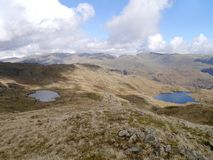 Looking over Codale and Easedale Tarns, Lake District Royalty Free Stock Image