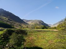 Looking over fields to Thornythwaite Fell, Lake District Stock Image