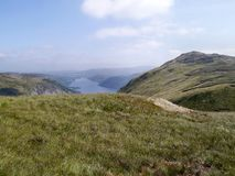 Looking over Glencoyne Head to Ullswater, Lake District Stock Photo
