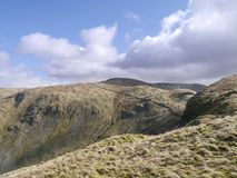 Looking over head of Bannerdale valley, Lake District Royalty Free Stock Photos