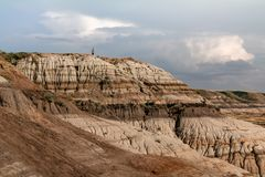 Looking over the Hoodoo cliffs stock photography