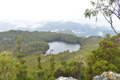 Looking over a Lake Herbert. Looking over a lake from a mountain Royalty Free Stock Image